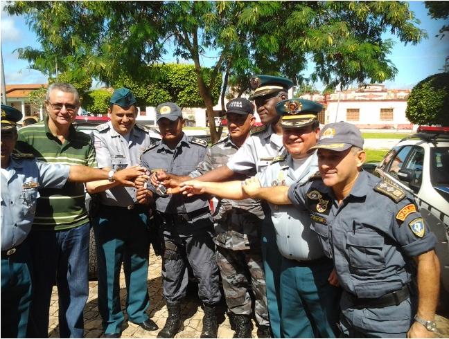 Comandante geral da PM participa de solenidade de entrega de viaturas