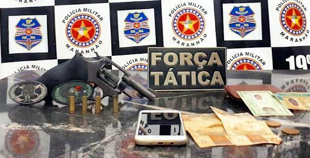 POLICIAIS DO 19º BPM APREENDEM ARMA DE FOGO COM SUSPEITO EM LAGO DA PEDRA