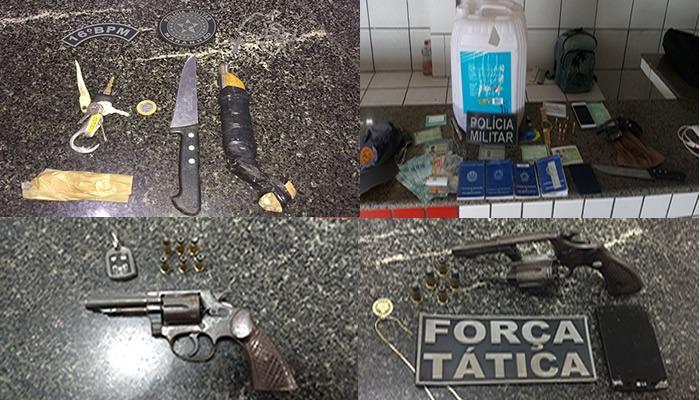 16º BPM apreende armas de fogo e drogas em Chapadinha e prende suspeito de homicídio em Santana – MA