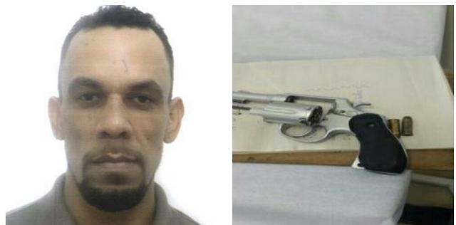 Foragido da justiça é preso coma arma de fogo no Parque Vitória