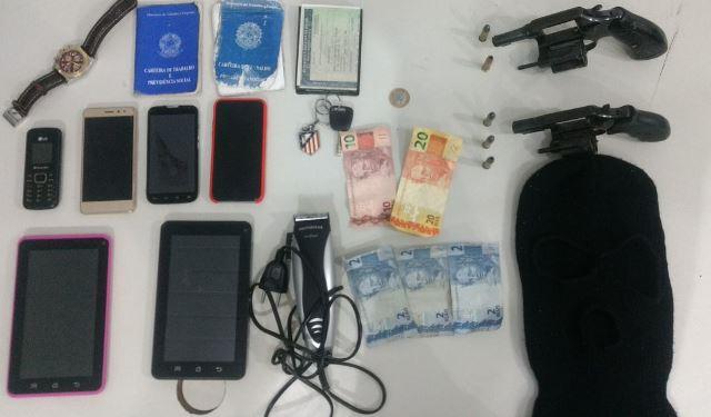 Operação da PM resulta na captura de quadrilha suspeita de praticar saidinha bancária em São Luís