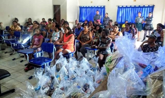 PMMA realiza entrega de cestas básicas a famílias desabrigadas pelas enchentes no interior do Estado
