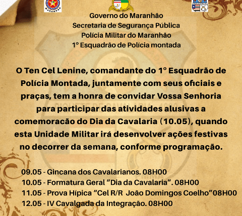 1º EPMONT REALIZA ATIVIDADES ALUSIVAS AO DIA DA CAVALARIA.