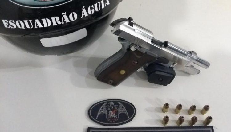 Esquadrão Águia do BPChoque apreende arma de fogo na Cidade Olímpica