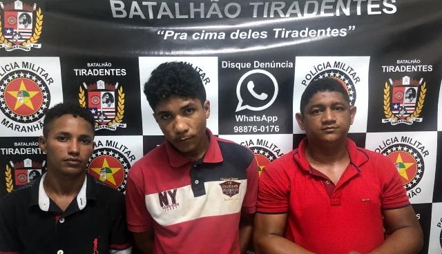 Batalhão Tiradentes prende trio de assaltantes que atuavam na área do Cohatrac