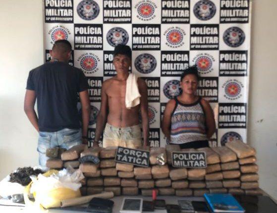 Polícia Militar apreende 60 quilos de maconha na cidade de Buriticupu