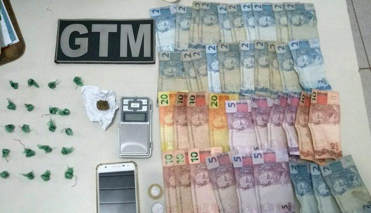 Equipe Bravo do GTM 1º BPM prende suspeito de trafico de drogas e apreende mais uma arma de fogo