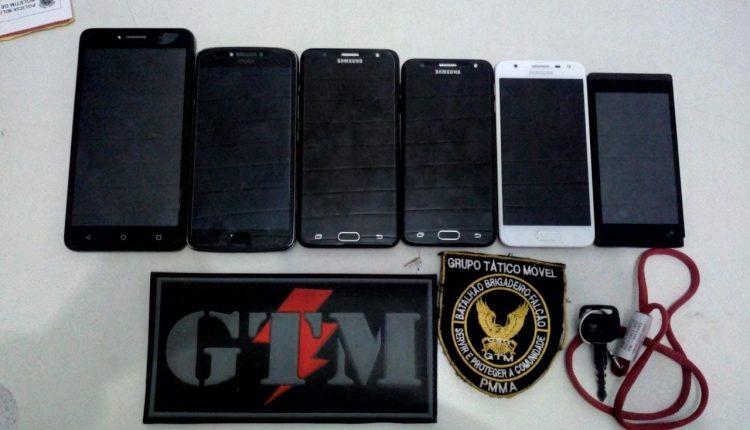 Policiais do 1º BPM recuperam celulares roubador e prendem foragido da justiça