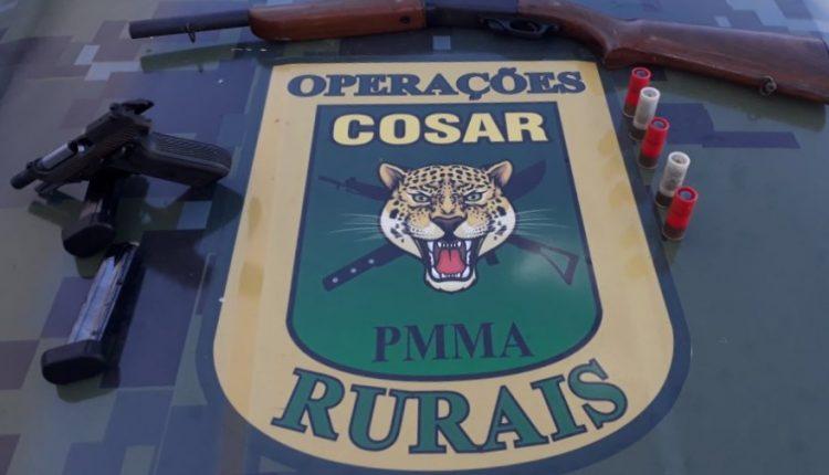 Policia Militar prende suspeitos com pistola e espingarda em Santa Quitéria