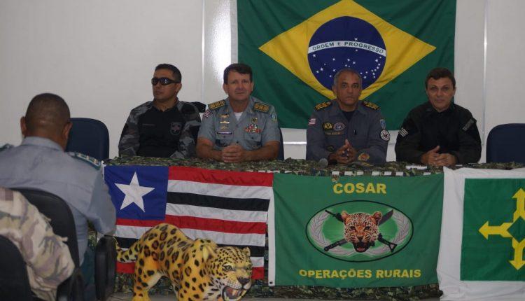 Policiais militares do Distrito Federal participam de Estagio básico em Operações Rurais na PMMA