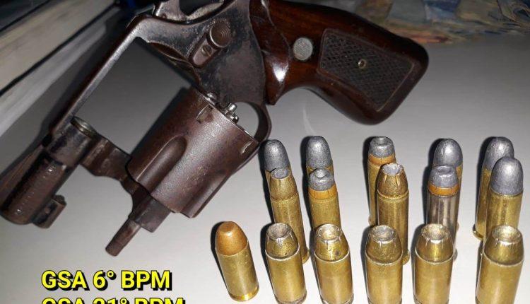 Polícia Militar prende homem com arma de fogo, munições e drogas no Bairro do Maracanã