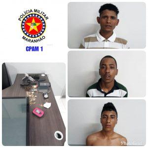 Suspeitos de assaltos à residência são presos em São Luís