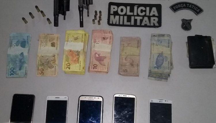25º BPM apreende armas de fogo e prende suspeitos de assalto em Cururupu
