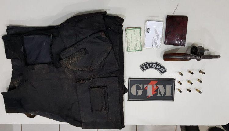 21º BPM apreende arma de fogo e drogas durante ações realizadas na sexta 11