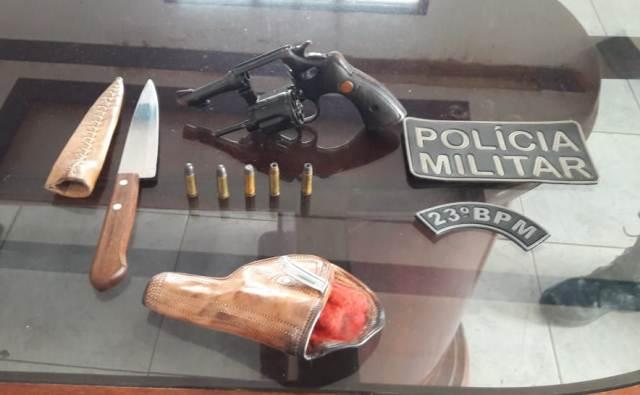 Policiais do 23º BPM prendem homem com arma de fogo em São Mateus