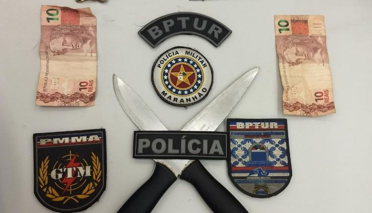 Policiais militares do BPTur frustram assalto a coletivo na Praia Grande e prendem suspeitos