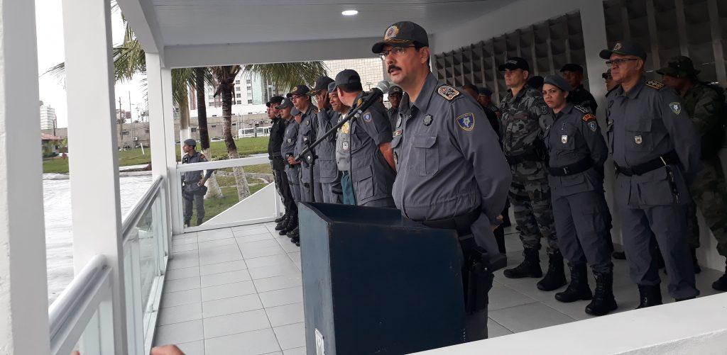 Formatura militar marca encerramento do Estágio de Força Tática e inauguração de palanque da APMGD