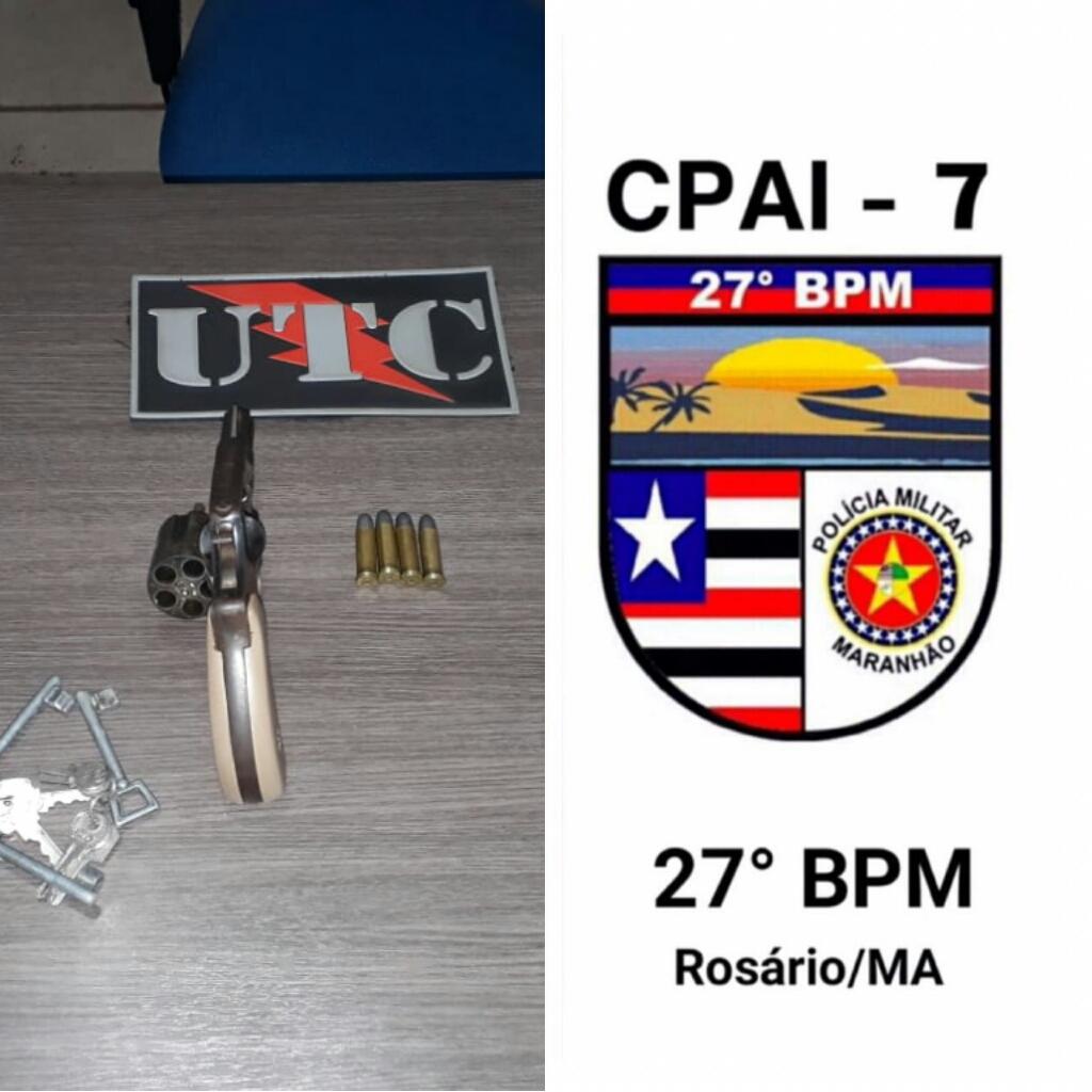 Arma de fogo é apreendida em Rosário-MA