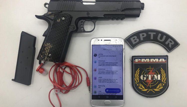 BPTUR prende homem praticando assalto na Avenida Beira Mar