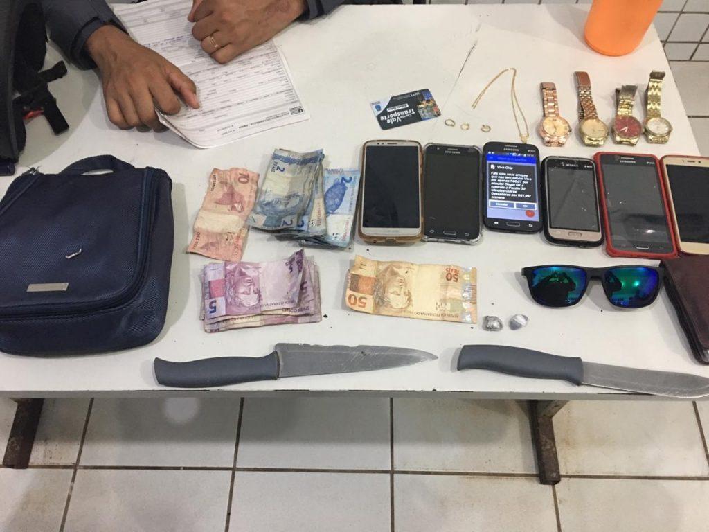 Policiais do 21º BPM apreenderam menores suspeitos no Maracanã