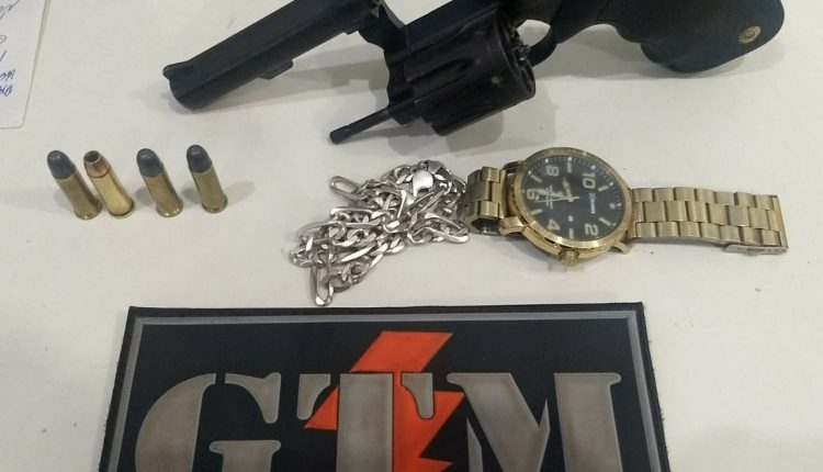 21º BPM realiza apreensão de arma de fogo