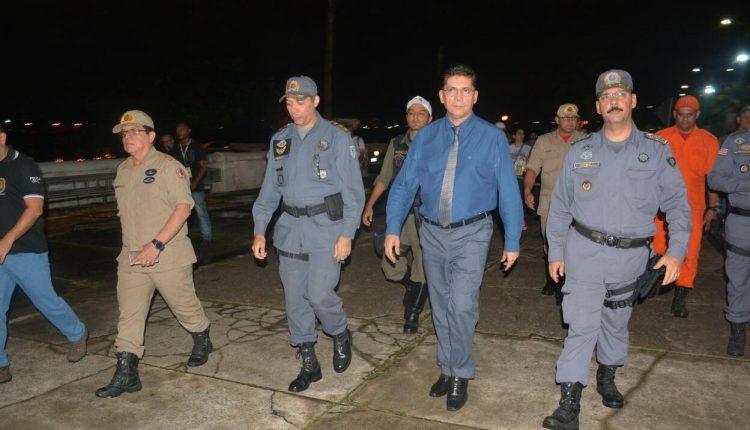 Comandante Geral acompanha vistoria na área central do Carnaval de Todos 2019