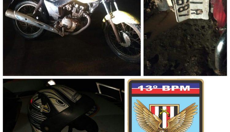Policiais do 13º Batalhão recuperam moto roubada e prendem criminosos em São José de Ribamar