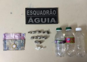 EQUIPE ESQUADRÃO ÁGUIA DO 2° BATALHÃO EFETUA PRISÃO DE HOMEM POR TRÁFICO DE DROGAS