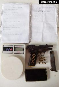 GSA DO CPAM 2 PRENDE CRIMINOSO E APREENDE ARMA DE FOGO EM PAÇO DO LUMIAR