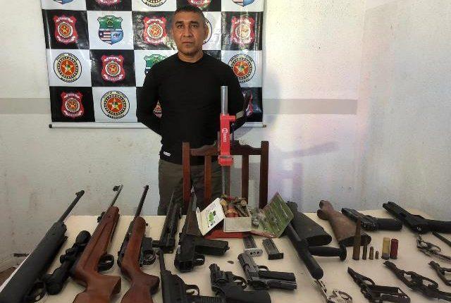 PM fecha fábrica clandestina de armas e munições em Imperatriz