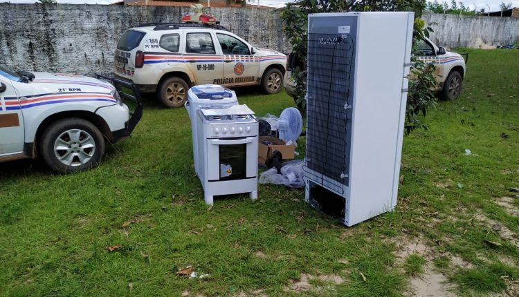 21º BPM recupera eletrodomésticos roubados no Quebra Pote