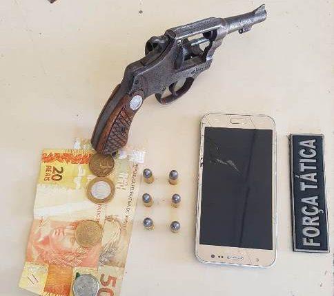 14º BPM apreende arma de fogo e recupera motocicleta roubada em Imperatriz