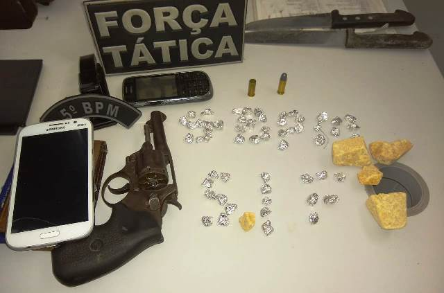 5º BPM prende dupla com drogas e arma de fogo na cidade de Barra do Corda