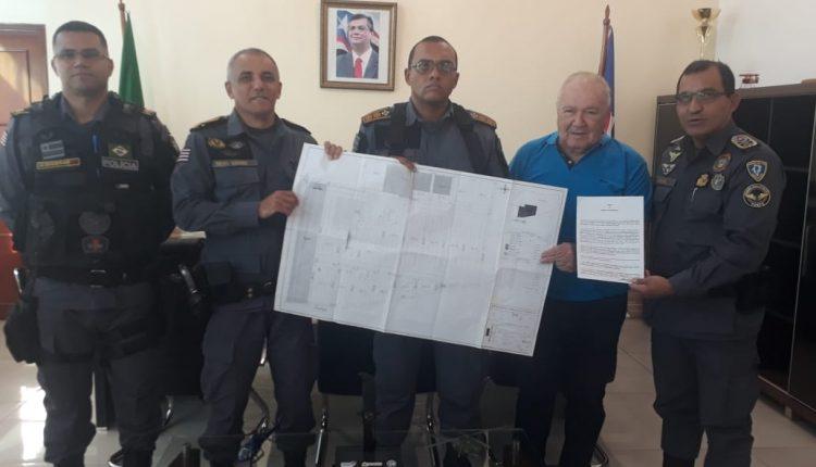 Comandante geral recebe a visita do ex-comandante geral o Coronel da reserva Riod Ayoub