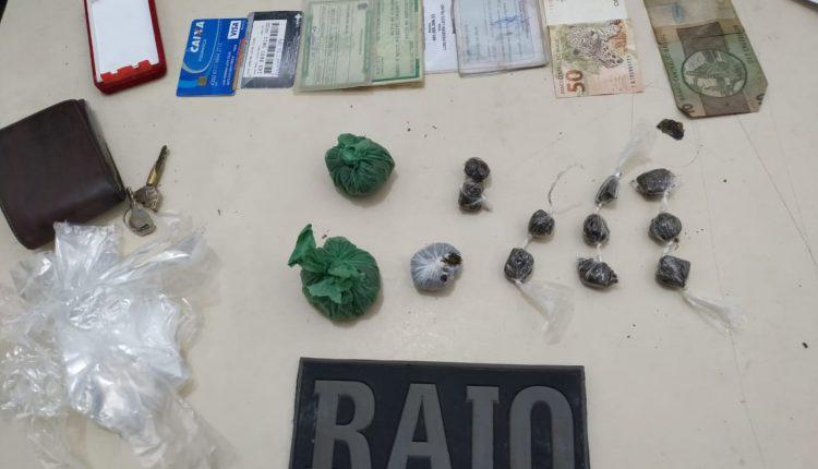 14º BPM prende suspeito de tráfico de drogas e recupera motos roubadas
