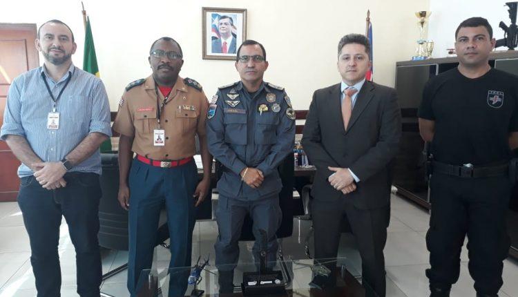 Comandante geral recebe a visita do coordenador da central de mandados em São Luis