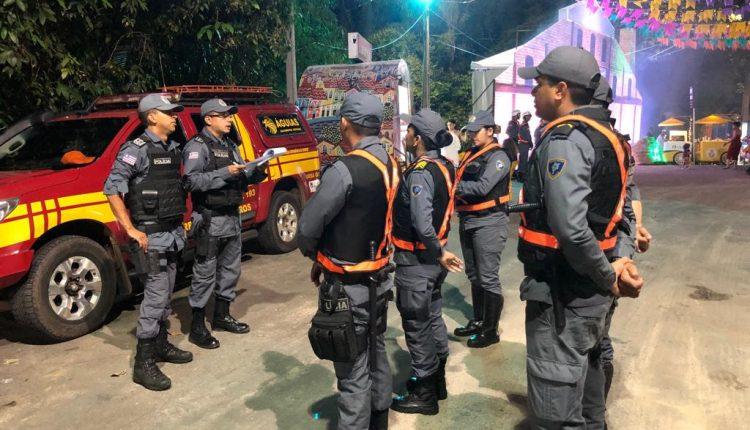 Com policiamento reforçado, PMMA garante tranquilidade no Arraial do IPEM