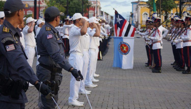 PMMA comemora seus 183 anos durante solenidade militar no Centro de São Luís