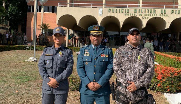 Policiais militares do Maranhão recebem comendas no estado Piauí
