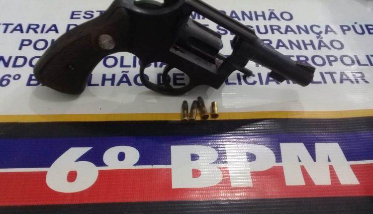 6º BPM retira de circulação mais uma arma de fogo em São Luís