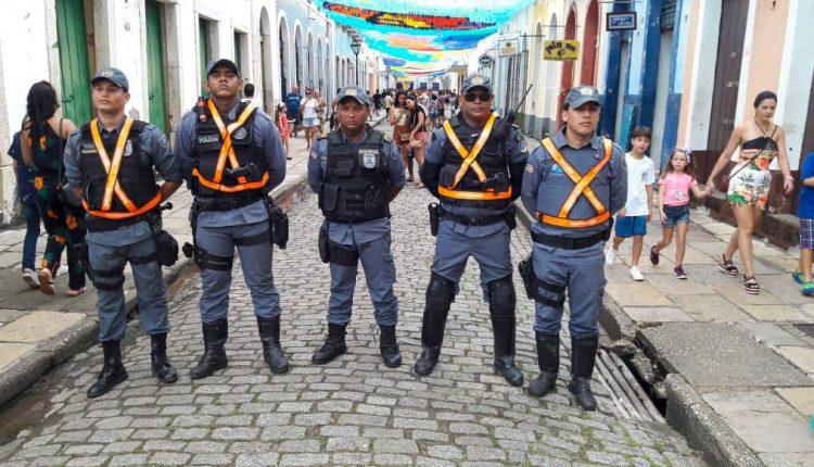 São João: BPTur reforça policiamento no Centro Histórico de São Luís