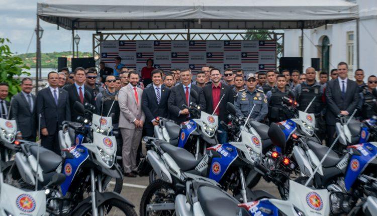 Governo do Estado entrega 44 novas motocicletas à PMMA