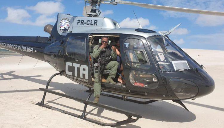 Centro Tático Aéreo resgata turistas perdidos em Barreirinhas-MA