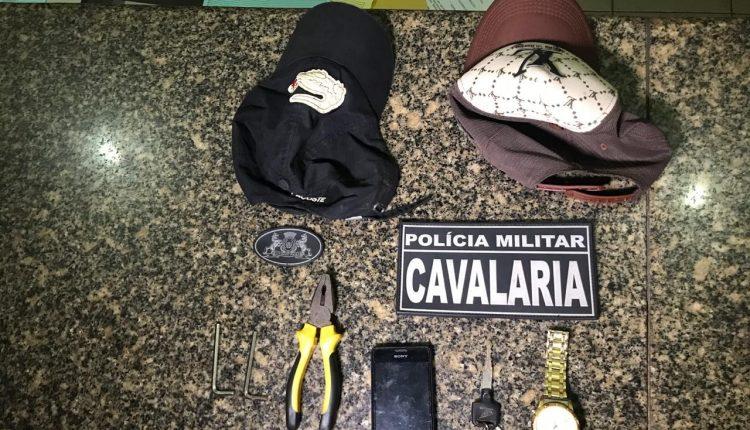 Policiais Militares do 1º Regimento de Cavalaria prendem suspeitos de roubos em Bacabal