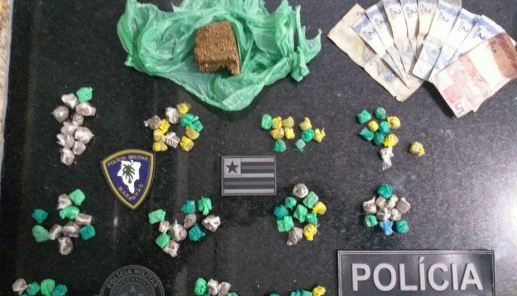 Polícia Militar apreende droga e prende criminoso em Porto Rico do Maranhão