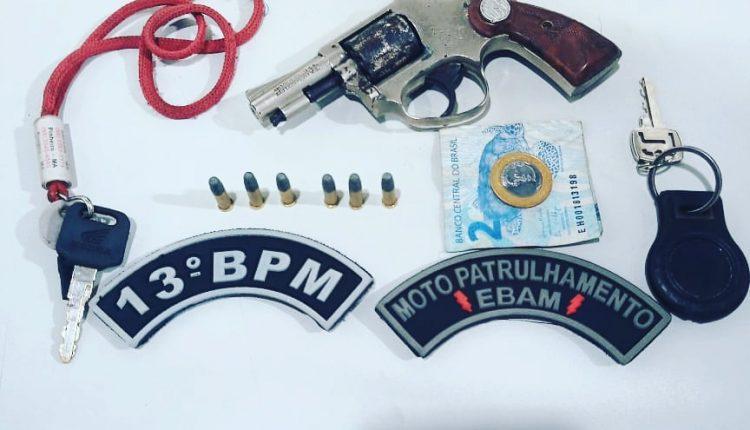 PMMA RETIRA MAIS IMA ARMA DE FOGO DE CIRCULAÇÃO NA REGIÃO DE RIBAMAR