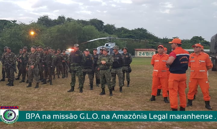 Policiais Militares participam de operação de combate a focos de incêndios no Maranhão