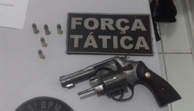 POLÍCIA MILITAR RETIRA DE CIRCULAÇÃO MAIS UMA ARMA DE FOGONA CIDADE DE BARRA DO CORDA