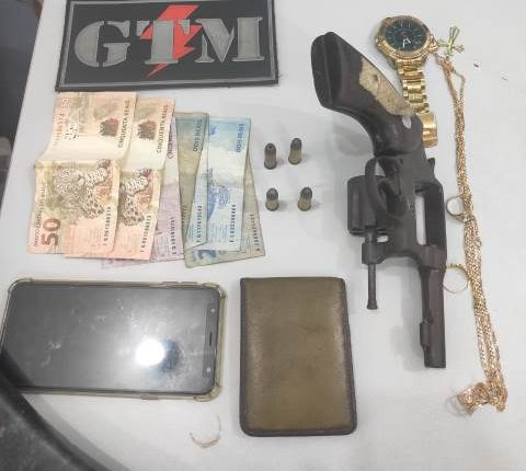 Polícia Militar prende homem com arma de fogo no Bairro de Fátima