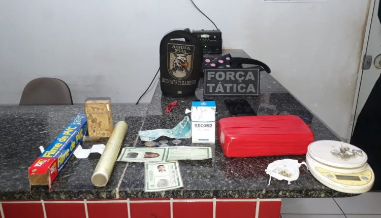 POLÍCIA MILITAR PRENDE SUSPEITOS DE TRÁFICO DE DROGAS EM AÇAILÂNDIA